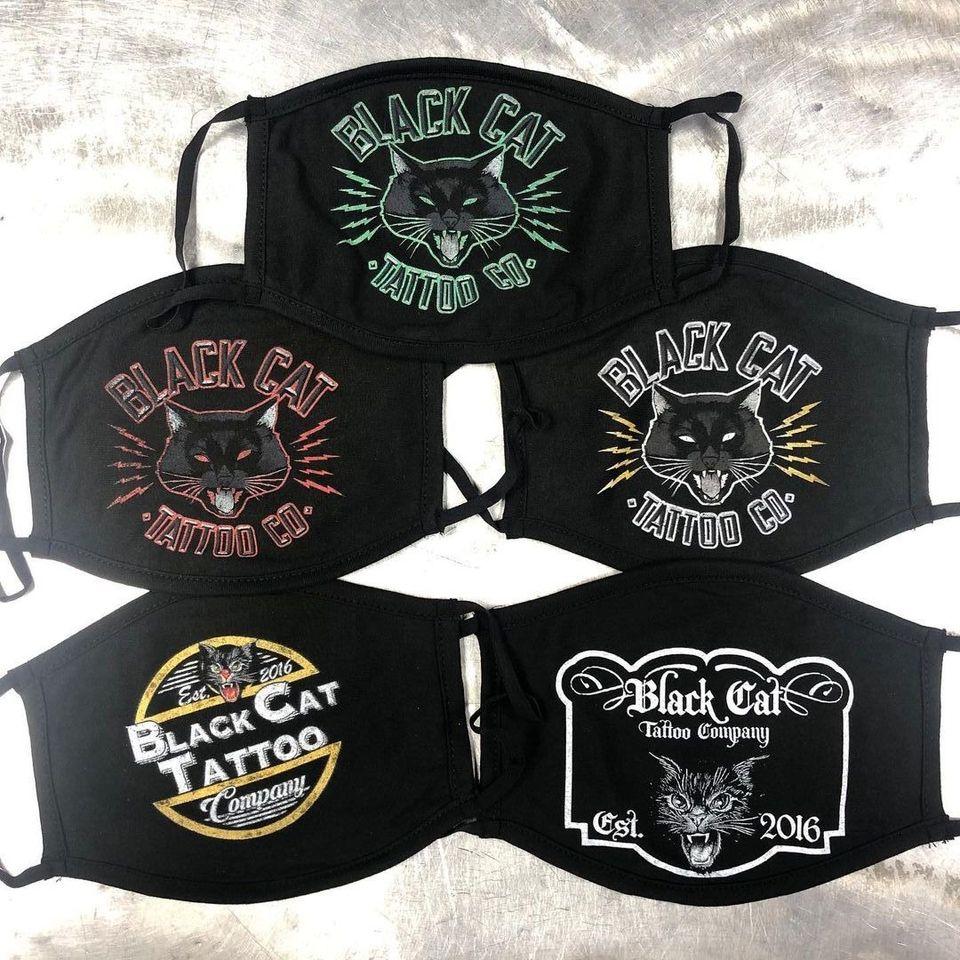 Black Cat Tattoo Co face masks #BlackCatTattooCo #facemasks