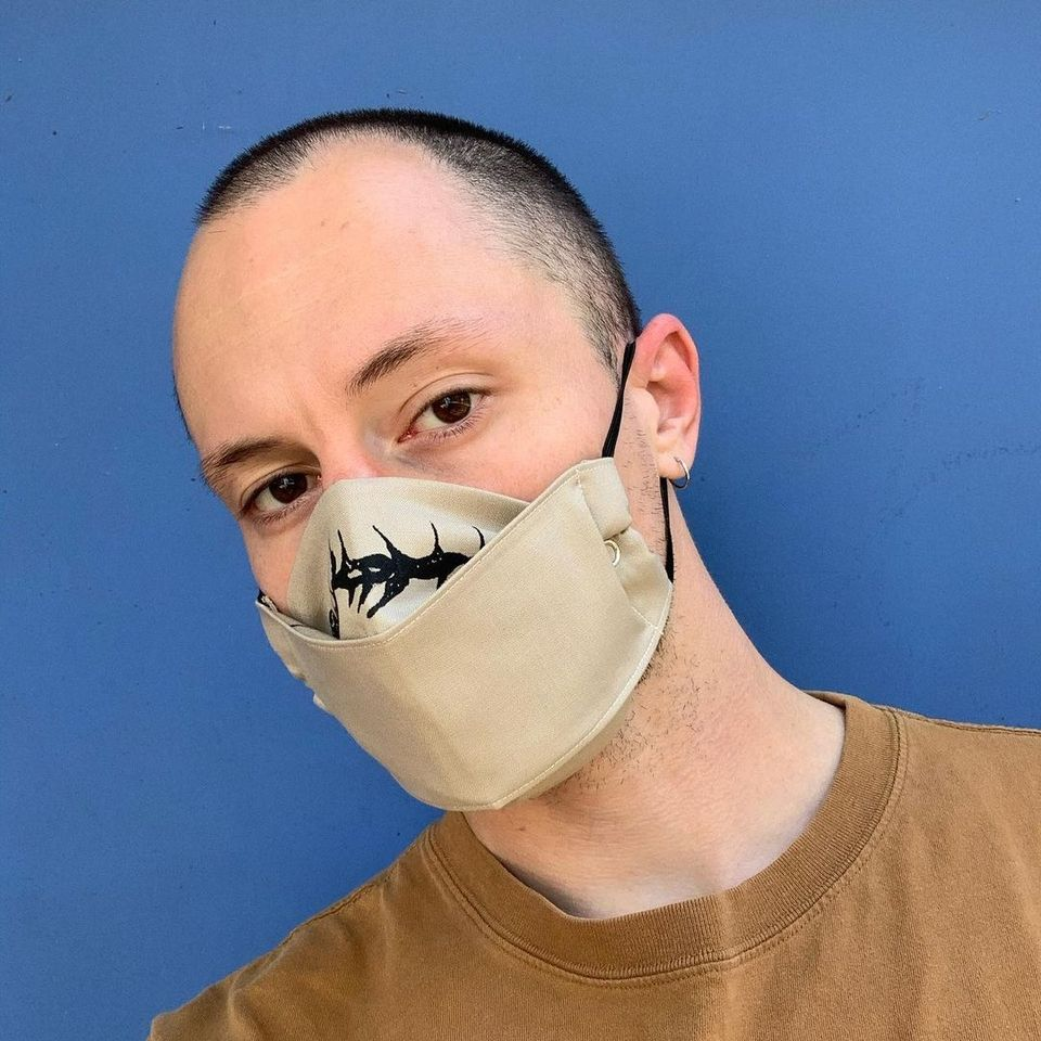 Face mask by tattooer Peace on the sun #Peaceonthesun #facemask