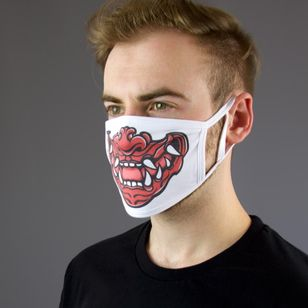 Hannya face mask by Calenion Apparel #CalenionApparel #facemask #coronafacemask