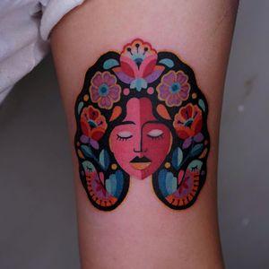Virgo tattoo by Nadcil #nadcil #virgo #zodiac #astrology #horoscope