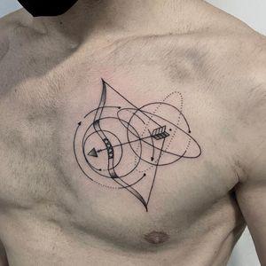Sagittarius tattoo by yleniaattard #yleniaattard #sagittarius #zodiac #astrology #horoscope