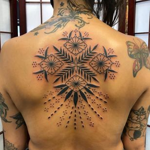 Tattoo by Boone Naka #BooneNaka #Traditional #Tribal #Surreal #psychedelic #folkart #folkpattern #floral #pattern #dotwork