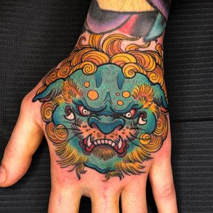 Foo dog tattoo by the storm cloud #thestormcloud #foodog #shishi #shi #guardianlion #Lion #mysticalcreature #mythicalcreature #deity