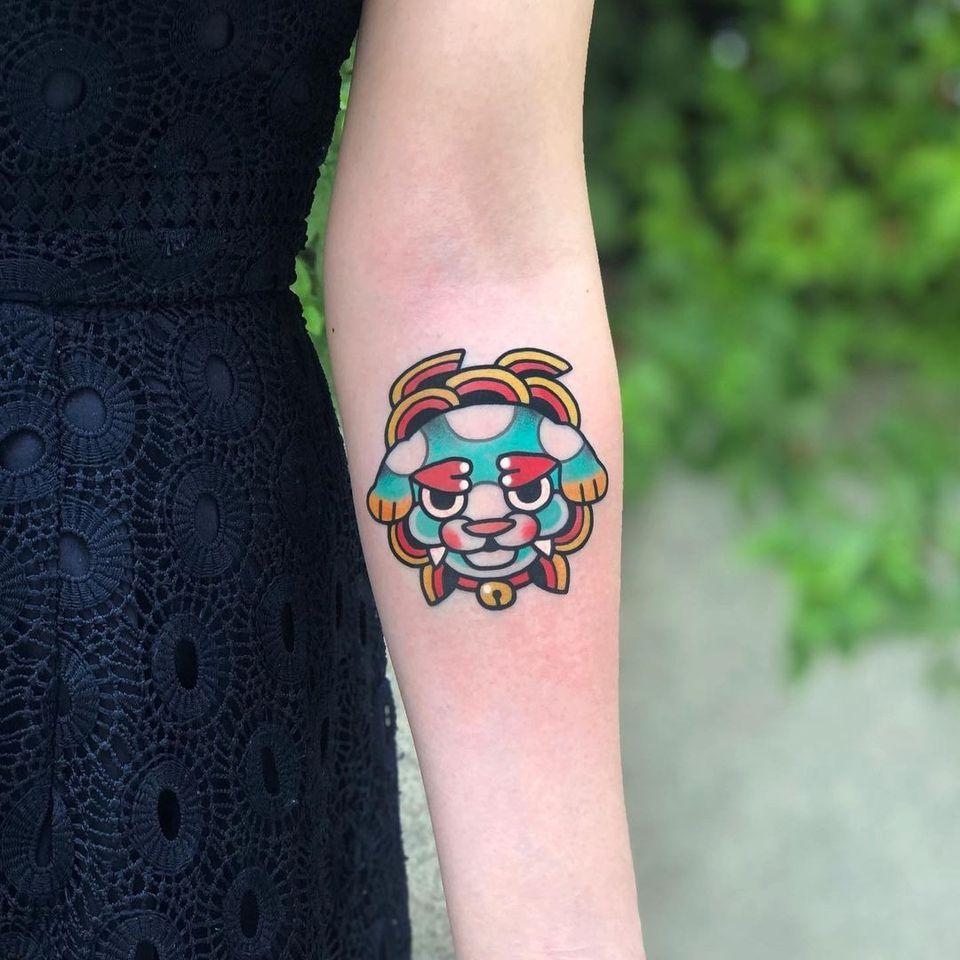 Foo dog tattoo by yub tattoo #yubtattoo #foodog #shishi #shi #guardianlion #Lion #mysticalcreature #mythicalcreature #deity