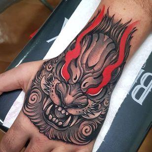 Foo dog tattoo by toniangar #toniangar #foodog #shishi #shi #guardianlion #Lion #mysticalcreature #mythicalcreature #deity