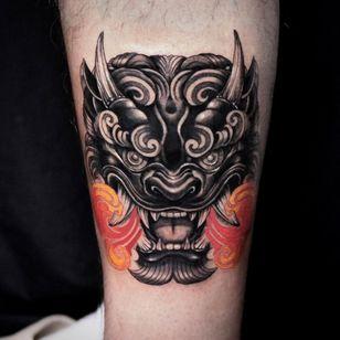 Foo dog tattoo by yutta tattoo #yuttatattoo #foodog #shishi #shi #guardianlion #Lion #mysticalcreature #mythicalcreature #deity