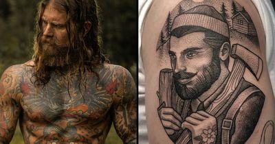 20 Robust Lumberjack Tattoos