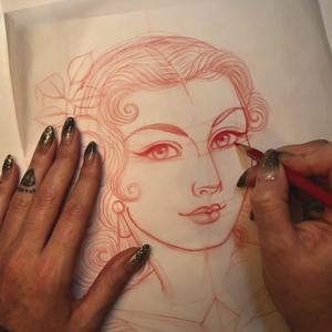 Portrait art class by Rose Hardy #RoseHardy