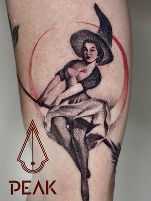 Pin up tattoo by tattoo.sal #tattoosal #pinupgirl #pinup #portrait #lady #woman #babe #tattooedgirl