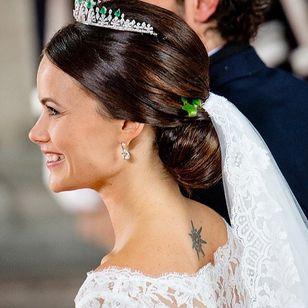 Princess Sofia her tattoo #royalswithtattoos #blackandgreytattoos #tattooedroyals