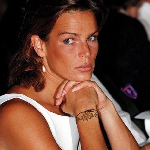 Princess Stéphanie's wrist and back tattoos #tattooedroyalty #rebelprincess