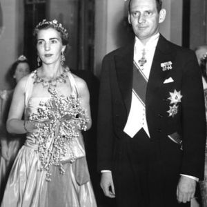 King Frederick IX bearing all to show off his nine tattoos versus his usual royal dress #tattooedroyalty #thetattooedking #historyoftattooing #navytattoos #militarytattoos