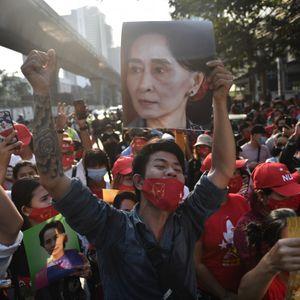 Demonstration outside Myanmar embassy in Bangkok #myanmarrevolt #myanmarprotests #protesttattoos