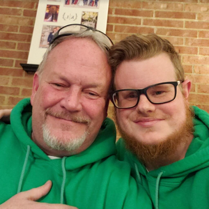 Kyle Sherwood and his father of Save My Ink Forever #KyleSherwood #SaveMyInkForever #tattoopreservation