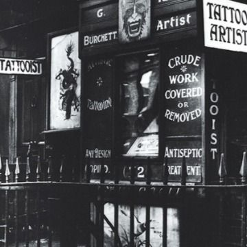 George Burchett's tattoo studio on Waterloo Road – image courtesy of the Tattoo Archive #tattoostudio #historictattoos #thekingoftattooists #georgeburchett