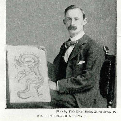 Britain's first professional tattooist Sutherland Macdonald, who trained George Burchett in the late 1800s #britiainsfirsttattooist #victoriantattooist #victoriantattoos #sutherlandmacdonald