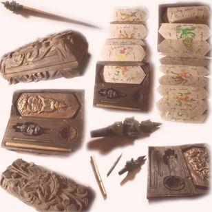 Antique Thai tattoo kit #tattootools #tattoosupplies #tattoohistory #tattooculture #sakyant #thaitattoo