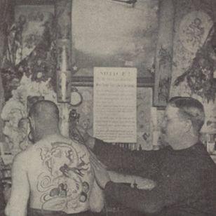 Sam O'Reilly tattooing #SamOreilly #tattootools #tattoosupplies #tattoohistory #tattooculture