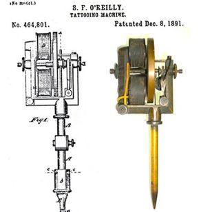 An original Sam O'Reilly tattoo machine #SamOreilly #tattoomachine #tattoohistory #tattooculture