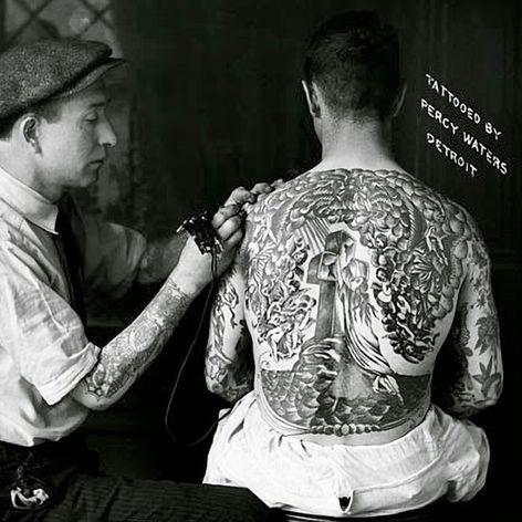 Percy Waters tattooing #PercyWaters #tattootools #tattoosupplies #tattoohistory #tattooculture