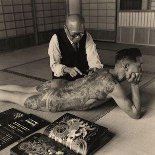 Photo by Horace Bristol circa 1940 #tattootools #tattoosupplies #tattoohistory #tattooculture #irezumi #japanesetattoo #yakuza