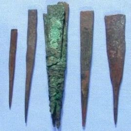 """Seven """"prick points"""" on display in the Petrie Museum, possibly used for tattooing. Image © UCL Museums & Collections #tattootools #tattoosupplies #tattoohistory #tattooculture"""