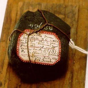Haida lignite stone collected by J.G. Swan #Haida #tattootools #tattoosupplies #tattoohistory #tattooculture