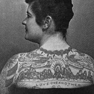 Emma DeBurgh tattooed by Sam O'Reilly #SamOreilly #tattootools #tattoosupplies #tattoohistory #tattooculture