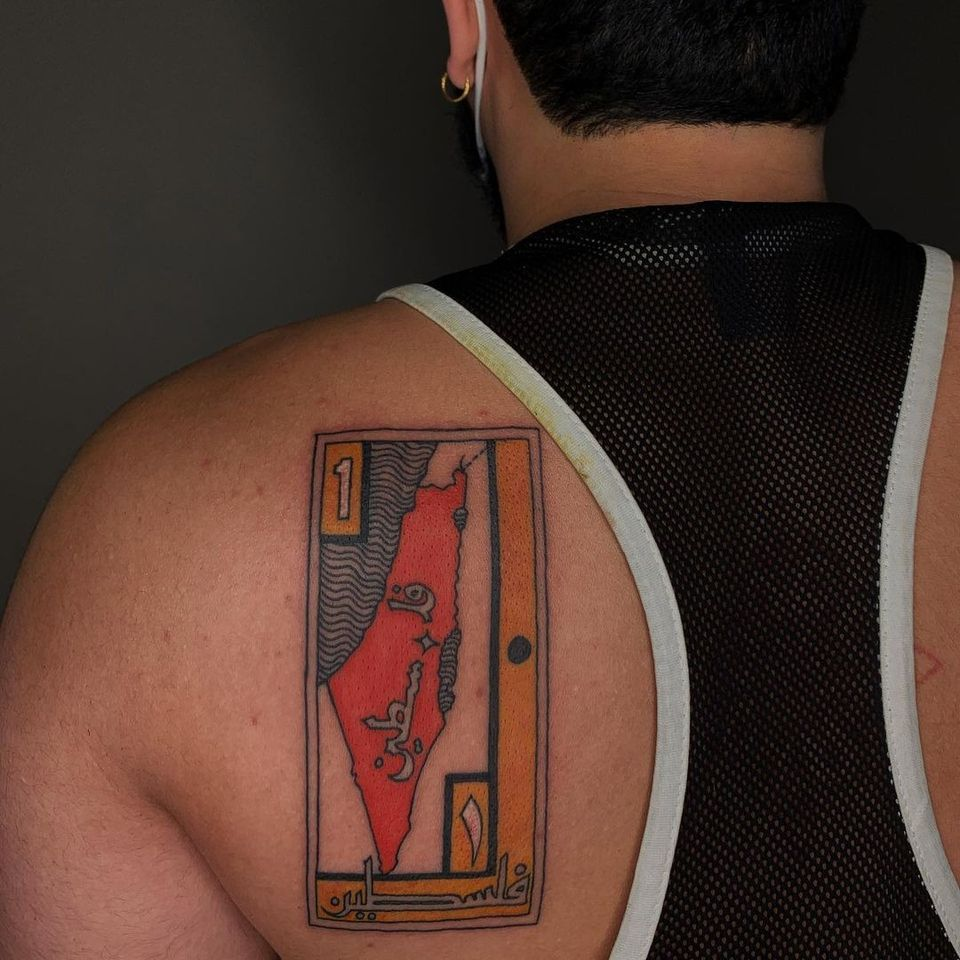 Tattoo by Sema Dayoub #semadayoub #nassimdayoub #traditionaltattoo #qttr #queertattooer