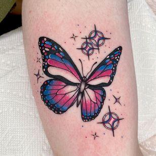 Butterfly tattoo by gracietattoos #gracietattoos #queertattoo #qttr #pridetattoo #lgbtqiatattoo #lgbtqtattoo