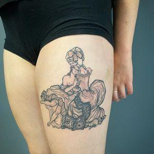lovely lady tattoo by tattulu #tattulu #queertattoo #qttr #pridetattoo #lgbtqiatattoo #lgbtqtattoo