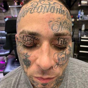 Eyelid tattoo by scriptinator #scriptinator #eyelidtattoo #eyelid #linework #facetattoo #face