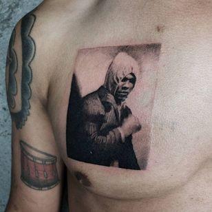Illustrative tattoo by Kristianne aka krylve #kristianne #krylev #illustrative #muhammadali #portrait #boxer #sports