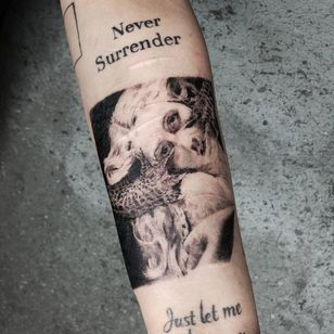 Work in progress Illustrative tattoo by Kristianne aka krylve #kristianne #krylev #illustrative #wip #CarpeNoctem #scarcoverup #HuguesMerele #marymagdalene