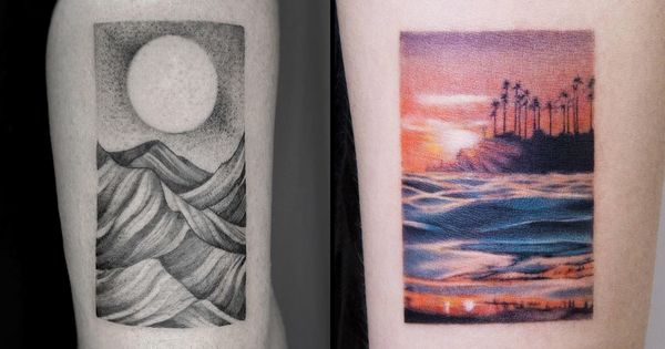 The World Within: Inspiring Landscape Tattoos
