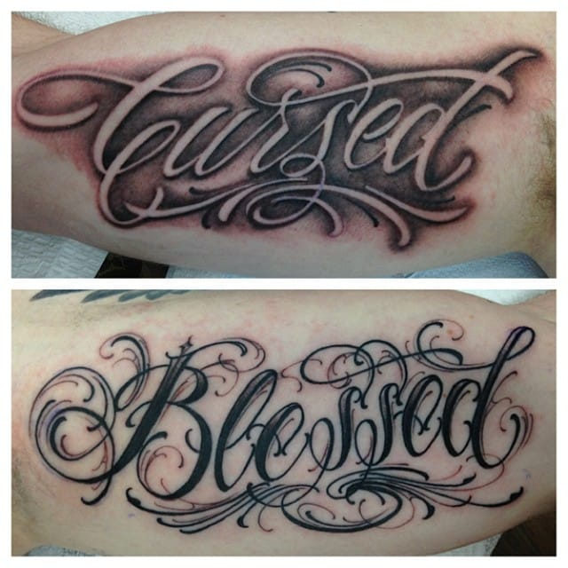 Blessed Cursed Tattoo by BJ Betts