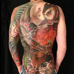 Brilliant backpiece by master Jeff Gogue #color #back #owl #jeffgogue