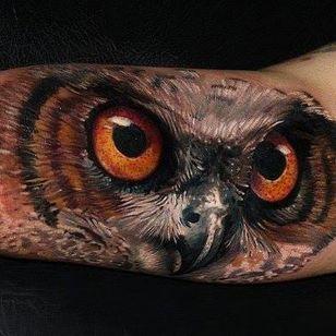Crazy realistic owl's face by Carlox! #carlox #owl #realism