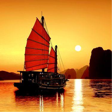 8 Oriental Junk Ship Tattoos