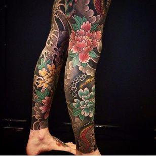 Floral Tattoo by Bonel Tattooer #japanese #japanesetattoos #japanesetattoo #irezumi #irezumitattoo #BonelTattoo