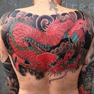 Dragon Tattoo by Bonel Tattooer #dragon #dragontattoo #japanese #japanesetattoos #japanesetattoo #irezumi #irezumitattoo #BonelTattoo