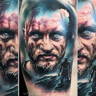 Ragnar tattoo by Charly Huurman #CharlyHuurman #ragnar #ragnarlothbrok #vikings #portrait