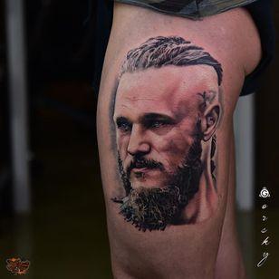 Ragnar tattoo by Gorsky #Gorsky #ragnar #ragnarlothbrok #vikings #portrait