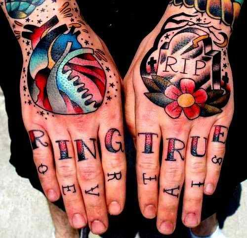 Traditional letters are usually rendered this way for the purpose bold & readable finger tattoos. Lettering finger tattoo, artist unknown. #lettering #fingertattoo