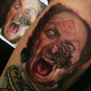 Nature and Portrait Color Realism Tattoos by Kyle Cotterman