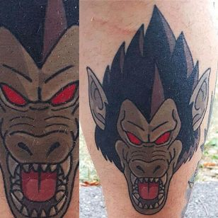 Great Ape tattoo by Adam Perjatel. #AdamPerjatel #anime #dragonball #dbz #dragonballz