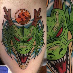 Shenron tattoo by Adam Perjatel. #AdamPerjatel #anime #dragonball #dbz #dragonballz #dragon