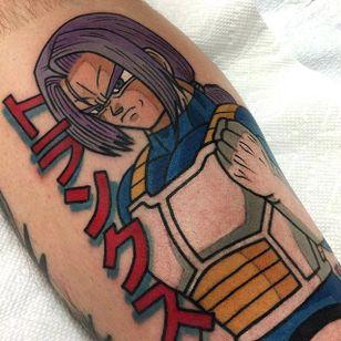 Trunks tattoo by Adam Perjatel. #AdamPerjatel #anime #dragonball #dbz #dragonballz