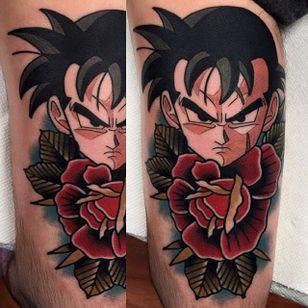 Future Gohan tattoo by Adam Perjatel. #AdamPerjatel #anime #dragonball #dbz #dragonballz