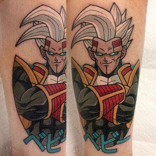Super Baby Vegeta 2 tattoo by Adam Perjatel. #AdamPerjatel #anime #dragonball #dbz #dragonballz